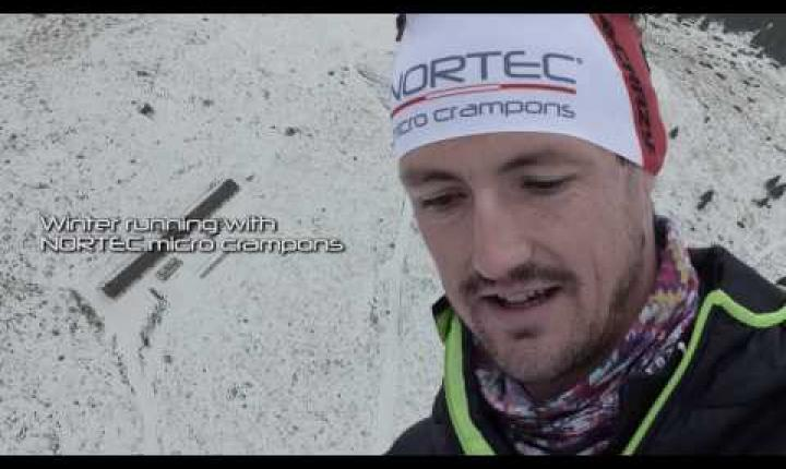 Tadei PIVK Skyrunner - winter running with NORTEC micro crampons